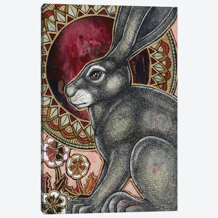 Sacred Hare  Canvas Print #LSH81} by Lynnette Shelley Canvas Art Print