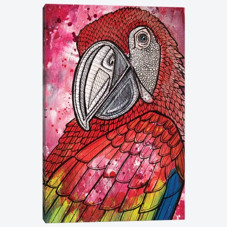 Scarlet Macaw Canvas Print #LSH84} by Lynnette Shelley Canvas Wall Art