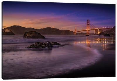 Golden Gate Bridge Fading Daylight Canvas Art Print