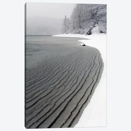 Pleated Ice Along Lake Shore In Winter, Nova Scotia, Canada Canvas Print #LSL12} by Scott Leslie Canvas Artwork