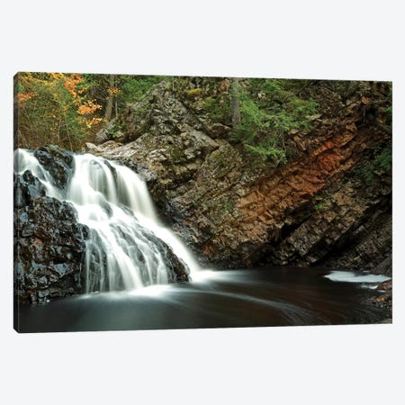 Waterfall In Autumn, Nova Scotia, Canada - Horizontal Canvas Print #LSL15} by Scott Leslie Canvas Print