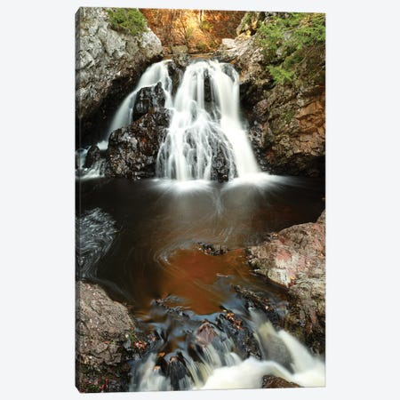 Waterfall In Autumn, Nova Scotia, Canada - Vertical Canvas Print #LSL16} by Scott Leslie Canvas Art Print