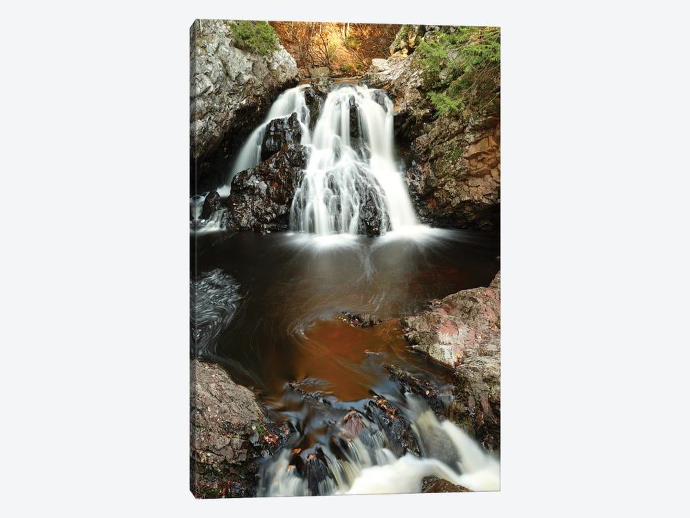 Waterfall In Autumn, Nova Scotia, Canada - Vertical by Scott Leslie 1-piece Canvas Print