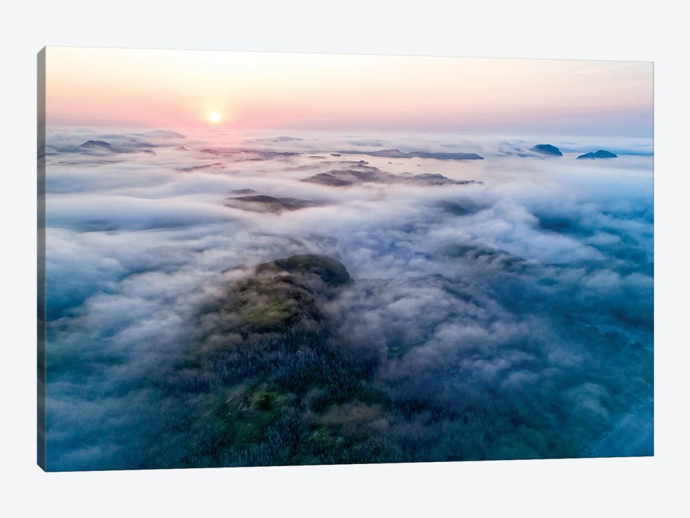 Low-Lying Fog Along Coast, Newfoundland, Canada by Scott Leslie 1-piece Canvas Artwork