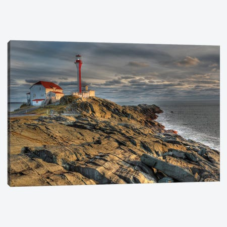 Cape Forchu Lightstation, Yarmouth, Nova Scotia, Gulf Of Maine, Canada Canvas Print #LSL5} by Scott Leslie Art Print