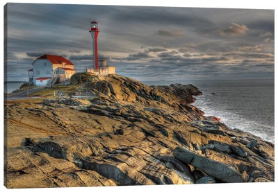 Cape Forchu Lightstation, Yarmouth, Nova Scotia, Gulf Of Maine, Canada Canvas Art Print