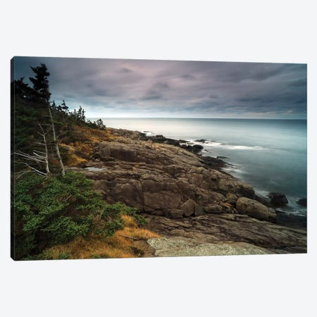 Coast At Dusk, Bay Of Fundy, Canada Canvas Print #LSL6} by Scott Leslie Canvas Art Print