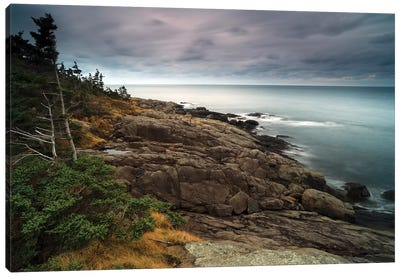 Coast At Dusk, Bay Of Fundy, Canada Canvas Art Print