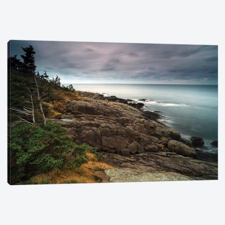 Coast At Dusk, Bay Of Fundy, Canada Canvas Print #LSL6} by Scott Leslie Canvas Art Print