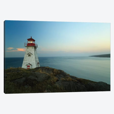 Lighthouse, Long Island, Bay Of Fundy, Canada Canvas Print #LSL9} by Scott Leslie Canvas Wall Art