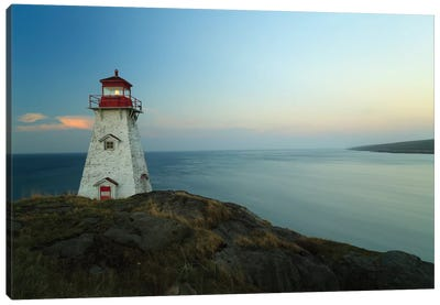 Lighthouse, Long Island, Bay Of Fundy, Canada Canvas Art Print