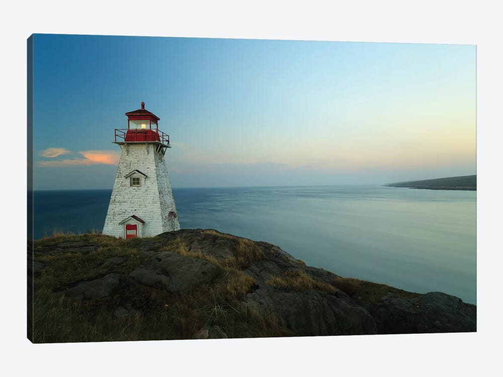 Lighthouse, Long Island, Bay Of Fundy, Canada by Scott Leslie 1-piece Canvas Artwork