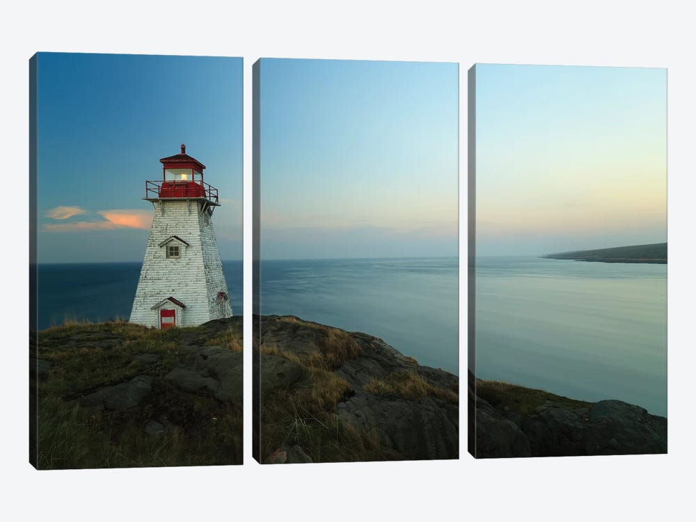 Lighthouse, Long Island, Bay Of Fundy, Canada by Scott Leslie 3-piece Canvas Art