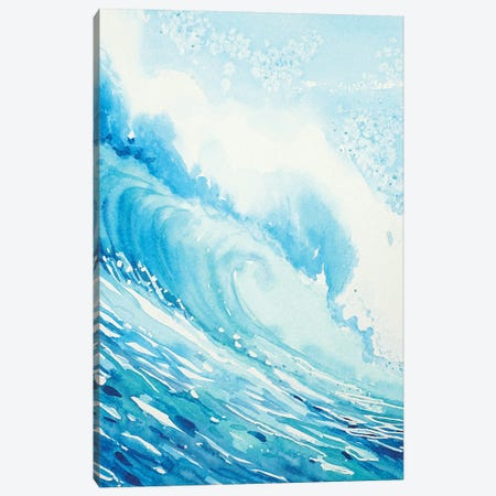 The Wave 3-Piece Canvas #LSM100} by Luisa Millicent Canvas Wall Art