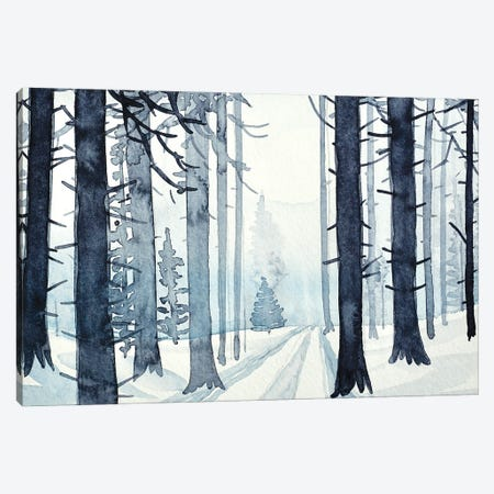 The Lonely Fir Tree Canvas Print #LSM103} by Luisa Millicent Canvas Wall Art