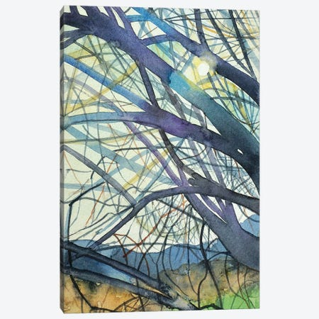 February Branches After The Rain Canvas Print #LSM109} by Luisa Millicent Canvas Artwork