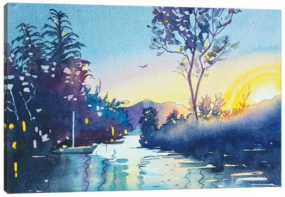Rabbit Island Sunset Canvas Art Print