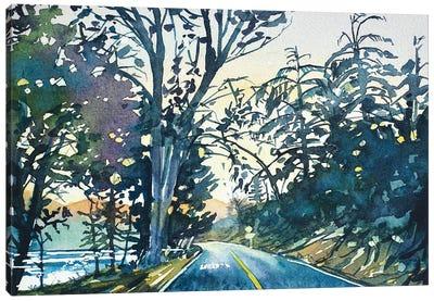 Evening On Lake Vista Canvas Art Print