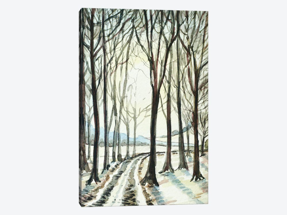 Winter Wood by Luisa Millicent 1-piece Canvas Wall Art
