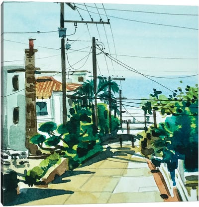 Walk Street 90266 Canvas Art Print