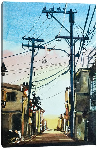 November Twilight Canvas Art Print