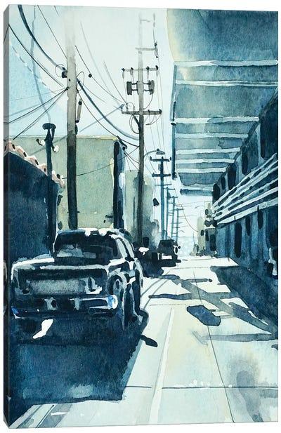 Manhattan Beach Downtown Alley Canvas Art Print