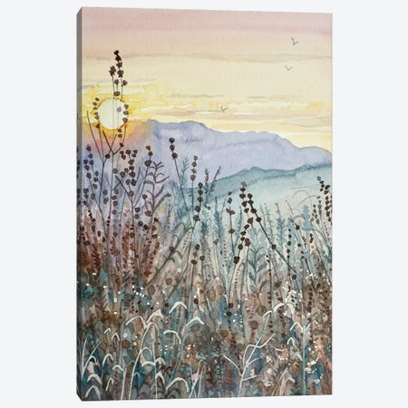 Early Fall Sunset Canvas Print #LSM182} by Luisa Millicent Canvas Wall Art
