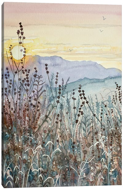 Early Fall Sunset Canvas Art Print