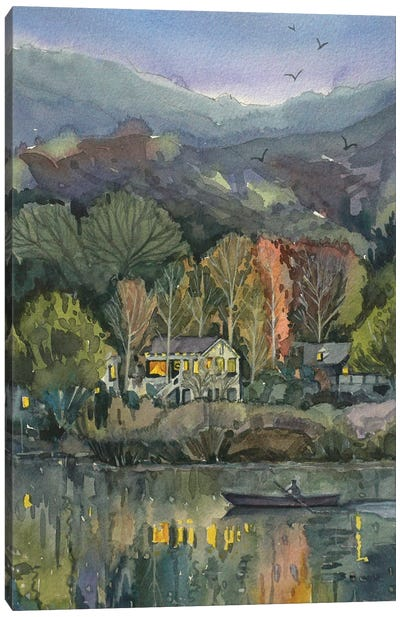 November Evening On Lake Malibou Canvas Art Print