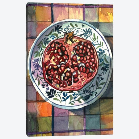 Pomegranate Delight Canvas Print #LSM199} by Luisa Millicent Canvas Art Print