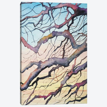 Sunset Branches 3-Piece Canvas #LSM1} by Luisa Millicent Canvas Art Print