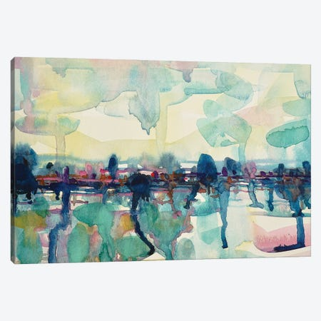 Abstract Lake 3-Piece Canvas #LSM20} by Luisa Millicent Canvas Wall Art