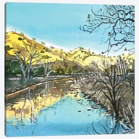 Malibu Creek Reflections Canvas Print #LSM210} by Luisa Millicent Canvas Artwork