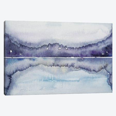 Purple Lake Canvas Print #LSM21} by Luisa Millicent Canvas Art