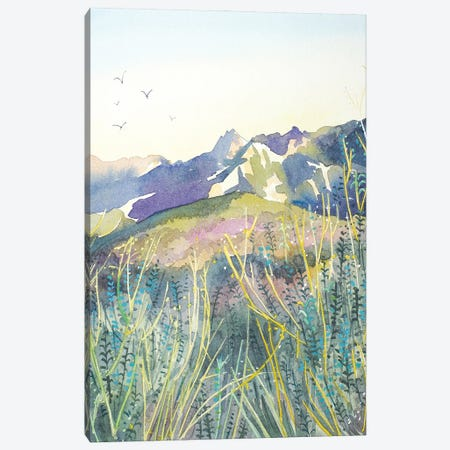 Evening View - Santa Monica Mountains Canvas Print #LSM41} by Luisa Millicent Canvas Art