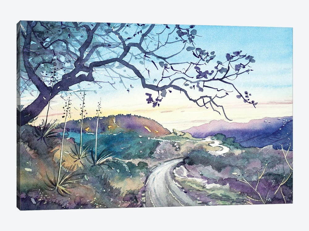 Fading Light On The Trail - Topanga by Luisa Millicent 1-piece Canvas Art Print