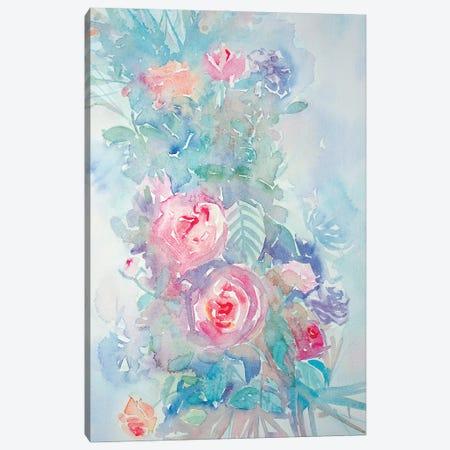 Floral Bouquet Canvas Print #LSM44} by Luisa Millicent Art Print