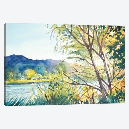 Fall - Malibou Lake Canvas Print #LSM48} by Luisa Millicent Canvas Art