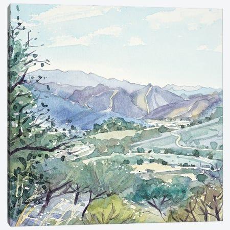 Malibu Creek From Las Virgenes Valley Canvas Print #LSM52} by Luisa Millicent Canvas Print
