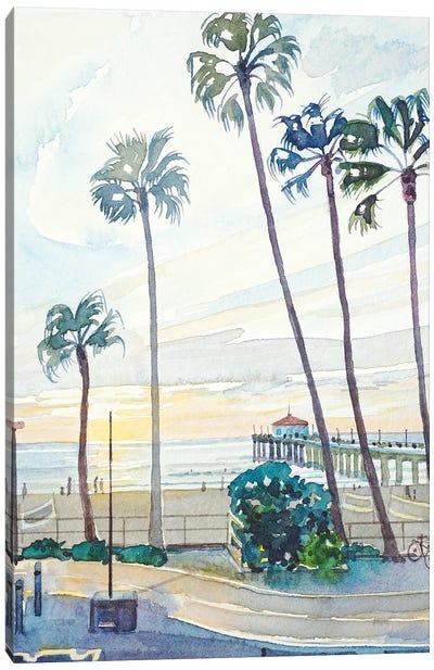 Manhattan Beach Pier Canvas Art Print