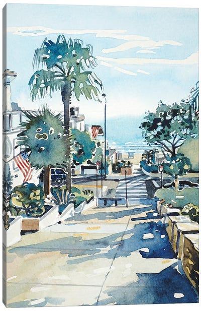 Manhattan Beach Walkstreet Canvas Art Print
