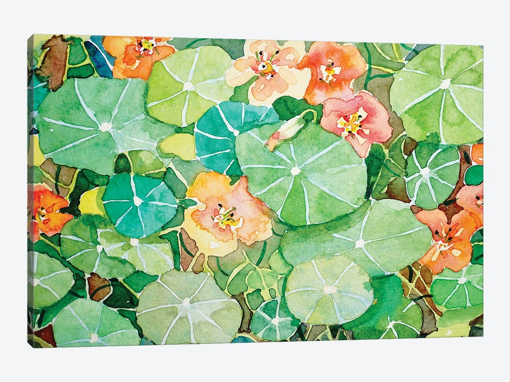Kelly'S Nasturtiums by Luisa Millicent 1-piece Canvas Wall Art