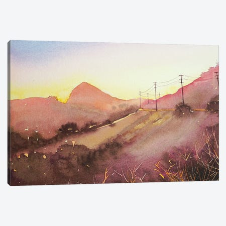 Reagan Ranch From Mulholland - Dusk Canvas Print #LSM70} by Luisa Millicent Canvas Print