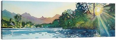 Spring Sunshine - Malibou Lake Canvas Art Print