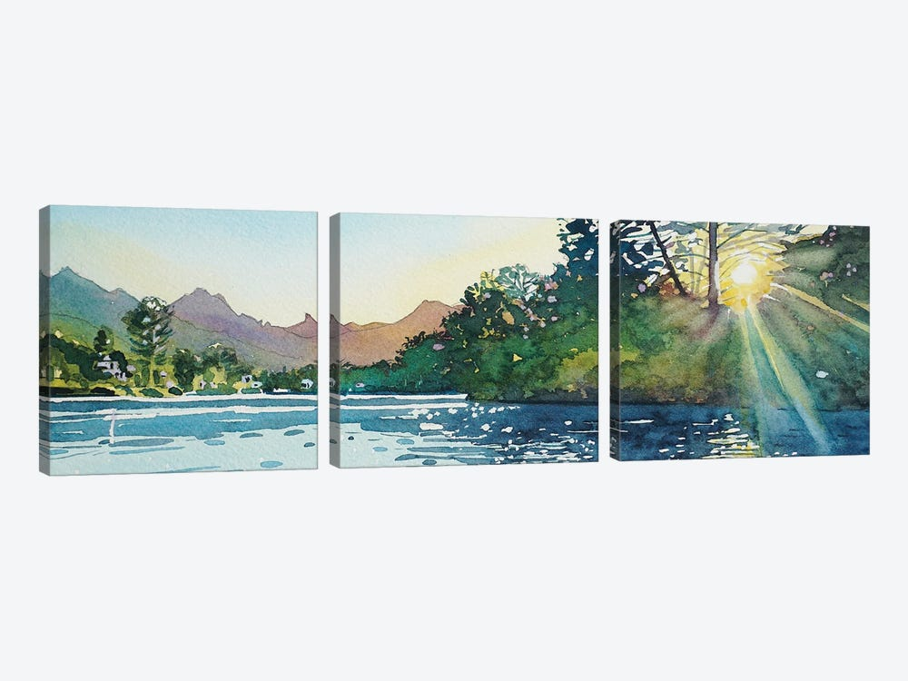 Spring Sunshine - Malibou Lake by Luisa Millicent 3-piece Art Print