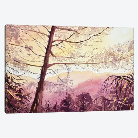 Skyline Sunset - Topanga Canvas Print #LSM87} by Luisa Millicent Canvas Art Print