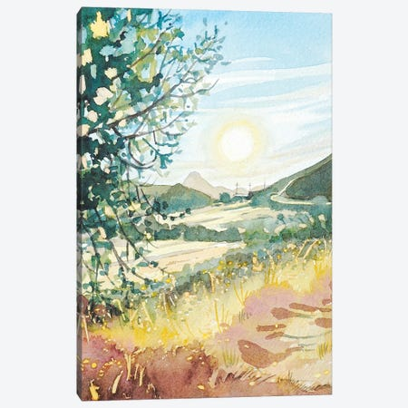 Sunny Afternoon - Reagan Ranch 3-Piece Canvas #LSM88} by Luisa Millicent Canvas Artwork