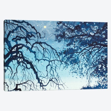 Topanga Skyline Canvas Print #LSM95} by Luisa Millicent Canvas Artwork