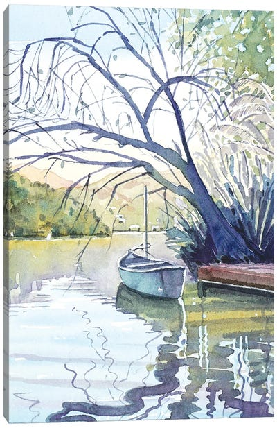 The Lonely Canoe Canvas Art Print