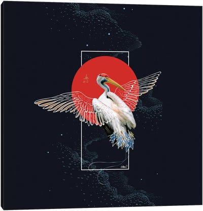 Cranes Japonese Kimono Canvas Art Print